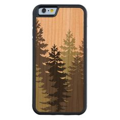 Pine Trees Carved® Cherry iPhone 6 Bumper