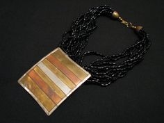 HUGE Vintage Heavy Mixed Metals Square Silver by JewelryStash