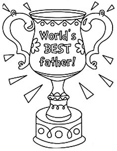 fathers day worlds best father on fathers day coloring page
