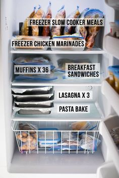 Great guideline for pre baby meal prep! Spilling all the details on the recipes I've stocked my freezer with before baby arrives! Freezer slow cooker recipes, chicken marinades, soups and more. Slow Cooker Freezer Meals, Make Ahead Freezer Meals, Crock Pot Freezer, Freezer Cooking, Slow Cooker Recipes, Freezer Recipes, Meal Prep Freezer, Freezer Burn, Meals To Freeze