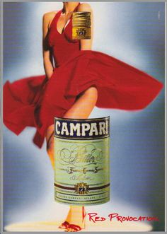 5 Postkarten - Campari Soda: Red Provocation, Red Passion, Red Expression ua