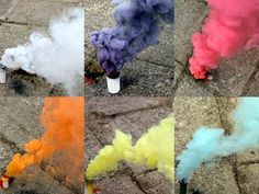 Farbiger Rauch, 18g 5er Pack verschiedene Farben von Björnax - Der Feuerwerk Shop