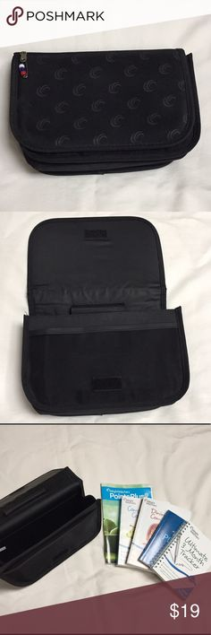 Weight Watchers Bag/Organizer with Books 📚 Weight Watchers bag with flap closure.  Outside has pocket, lift flap to find mesh slip pocket, inside has a slip pocket and elastic pen holder. Also included a WW Point Plus book, Complete Food Companion book, Dining Out Companion book, Three Month Tracker spiral book, and a Pocket Guide. Bags