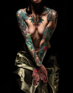 Tattooed nude photography