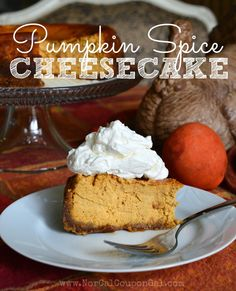 Pumpkin Spice Cheesecake  www.NorCalCouponGal.com