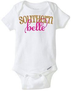 Southern Belle Onesie One Piece Baby Girl Onesie by CassidyCloset