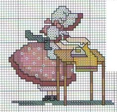 Embroidery Designs For Girls Sunbonnet Sue 21 Trendy Ideas Cross Stitch For Kids, Cross Stitch Kitchen, Cross Stitch Baby, Cross Stitch Charts, Cross Stitch Designs, Cross Stitch Patterns, Embroidery Applique, Cross Stitch Embroidery, Embroidery Designs