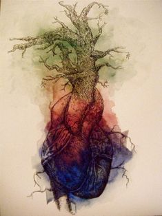 Anatomical Heart Also like this, but maybe without the tree? Or, maybe keep it and make it more branch-like?