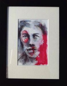Stylo bille, acrylique 15x10