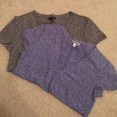 Express short sleeve shirts Two Express short sleeve tops. Only worn a couple times. Both size small. One blue and one gray. Express Tops