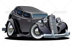 Vector Cartoon Retro Car  #GraphicRiver         Available AI-10 and EPS vector formats separated by groups and layers for easy edit. More cartoon cars or transportation illustrations see in my portfolio.  	 Also you can check at my Collections:  Vector Cartoon Cars  Vector Cartoon Trucks  Detailed Vector Cars modern and retro  Detailed Vector Trucks Vans Tractors and Pickups  Detailed Vector realistic and cartoon styled Buses  Vector aircrafts, airplanes, retro, modern, blueprints…