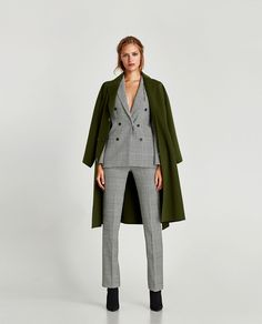 ZARA - WOMAN - CHECKED DOUBLE-BREASTED JACKET