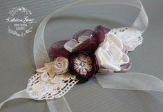 Prugna polso corpetto pizzo tessuto fiori - madre del dono sposa sposo - sposa bracciale braccialetto - melanzana melanzane Accessori Sposa