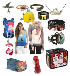 """""""The little mermaid stuff"""" by ginaisanerd ❤ liked on Polyvore featuring Disney"""