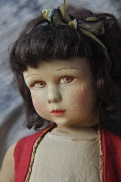 French Raynal doll, similar to Lenci Old Dolls, Antique Dolls, Dolly Doll, Retro Art, Doll Face, Doll Houses, Beautiful Dolls, Doll Clothes, Bears
