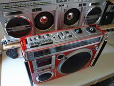 old school hip hop blaster   Sharp GF767 & JVC Disco BOX