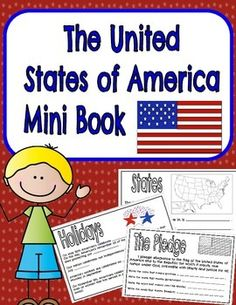 I created this for my second graders to use as a review. We use a text book called Our America. This booklet goes perfectly with unit one. However, you don't have to have our text book to make good use of this activity. You can use this as a center, a social studies min-unit, or even as written portion to a web based search.