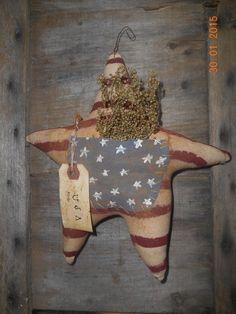 Primitive Grungy Star Wall Hanger Door Greeter Americana Handmade Patriotic USA  #Americana #Handmade