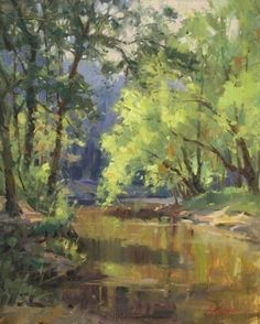 Spring on Partridge Creek by Steve Atkinson Oil ~ 20 x 16