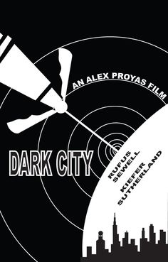 Fan art poster for Alex Proyas' Dark City. Alex Proyas, Dark City, Cult Movies, Art Studios, Tv Series, Movie Posters, Film Poster, Fan Art, Actors