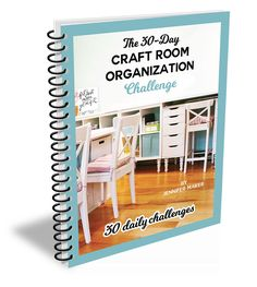 Learn how to transform your mess into an organized craft room with this free challenge filled with tips, tricks, advice, and tutorials! Craft Ribbon Storage, Craft Room Storage, Cricut Craft Room, Craft Rooms, Craft Room Organisation, Closet Organization, Shabby Chic Crafts, Sewing Rooms, Space Crafts