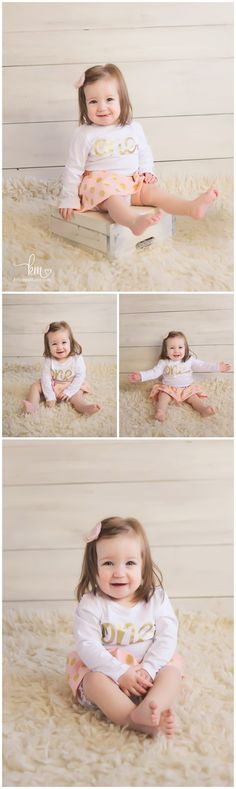 Pink and Gold Themed Birthday Session – Indianapolis Photographer | http://kristeenmarie.com/photography/blog/pink-and-gold-themed-birthday-session-indianapolis-photographer/