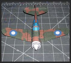 WWII CAC Boomerang Fighter Free Aircraft Paper Model Download - http://www.papercraftsquare.com/wwii-cac-boomerang-fighter-free-aircraft-paper-model-download.html