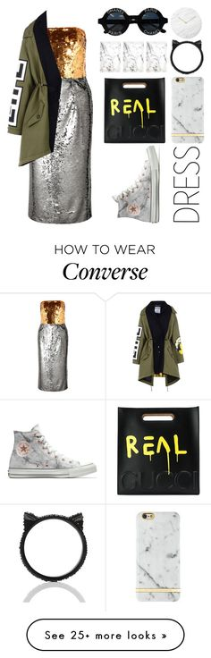 """""""twothree"""" by michelledhrm on Polyvore featuring Dolce&Gabbana, Moschino, Converse, Richmond & Finch, Gucci, Petite Amie, Kate Spade, Chanel and Menu"""