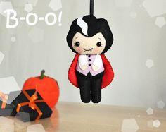 Halloween Verzierung Filz  Dracula Halloween Dekor di MagicFelt su DaWanda.com