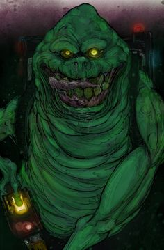 Trouble by T-RexJones.deviantart.com on @deviantART Ghostbusters Slimer with a Proton Pack...