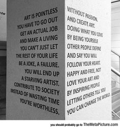 Art Is Pointless - The Meta Picture, The Complete Sentence Art Display
