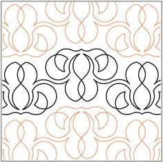 Bodacious quilting pantograph pattern by Lorien Quilting