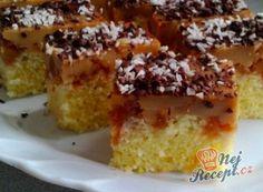 Hrnkový kokosový koláček s karamelovým pudinkem