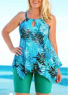 Cheap tankini plus size swimwear online for sale Plus Size Tankini, Plus Size Swimsuits, Tankini Top, Bikini Modells, Plus Size Kleidung, Swim Dress, Bra Styles, Plus Size Outfits, Plus Size Fashion