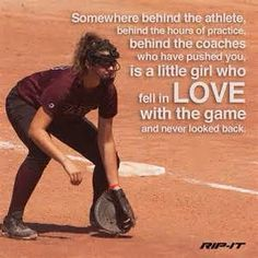 A softball quote that will inspire you. Rip It