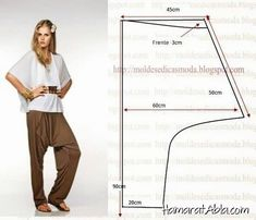 how to make thai fisherman pants pattern Diy Clothing, Clothing Patterns, Dress Patterns, Sewing Patterns, Sewing Pants, Sewing Clothes, Pattern Cutting, Sewing Techniques, Free Sewing