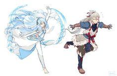 Wanted to draw my Hoshidan siblings learning Azura's dance ٩(♡ε♡ )۶
