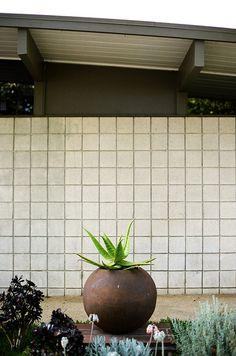 Orb planter. Eichler home - Orange California.  // Great Gardens & Ideas //