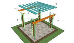 This step by step diy project is about how to build a pergola on a patio. Building a free standing pergola in your backyard is a fun project for a weekend. Pergola Cost, Small Pergola, Pergola Attached To House, Metal Pergola, Deck With Pergola, Cheap Pergola, Wooden Pergola, Covered Pergola, Outdoor Pergola