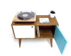 Vinyl Record Storage Mid Century Modern by VintageHouseCoruna
