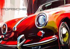 Porsche illustration by Swaroop Roy