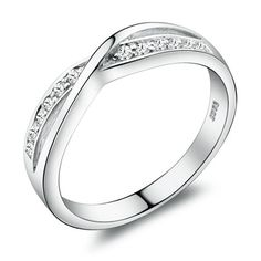 Personalized Engraved Diamond Wedding Ring for Women