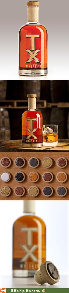 Firestone and Robertson's Blended TX Whiskey comes with unique handmade caps.