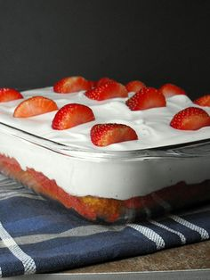 Fresh Strawberry Poke Cake