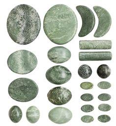 Set of jade massage stones