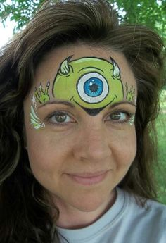 Monster Inc face painting ideas for kids