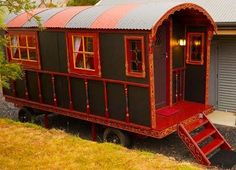 Heimat Wagon, built by Gypsy Wagons, Australia. We built this wagon for Heimat Chalets in the Derwent Valley. They offer award winning romantic stays. Stay with them and try our wagon out - Gypsy Wagons Australia