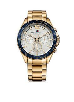 Tommy Hilfiger Luke TH1791121 - Horloge - Blauw en goudkleurig - 46 mm - 5 ATM