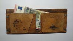 echt Leder Geldbörse für Karten und Scheine mit persönlicher Lasergravur von KoboldsZeug auf Etsy