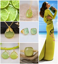 Lime-green gemstones for summer.